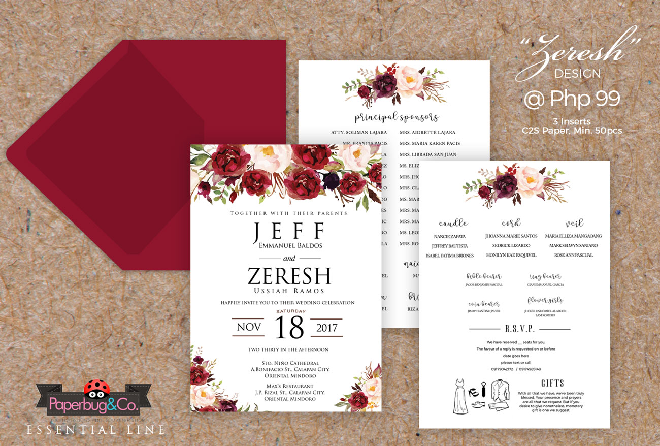 Essential – Zeresh | Paperbug & Co – Fine Handmade Invitations for ...